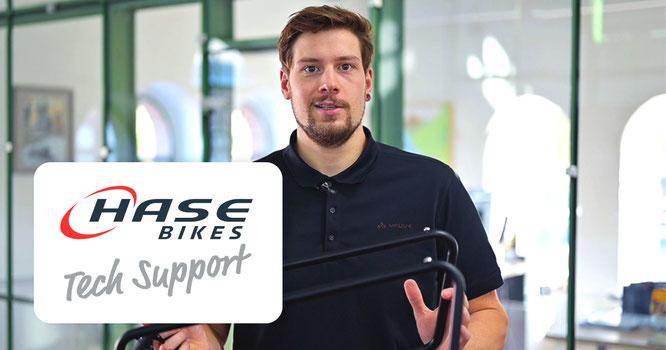 Dario Valenti, Moderator der HASE BIKES-Tech Support Videos