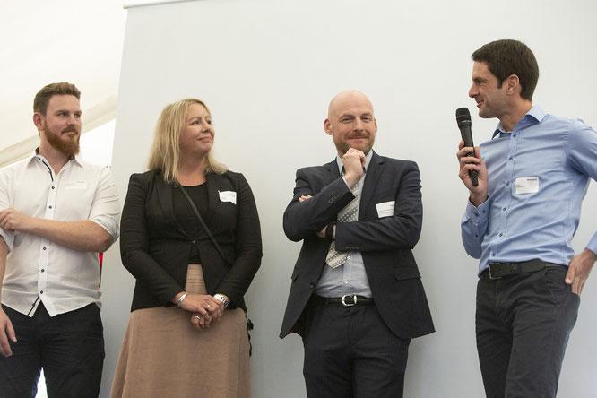 Expertenrunde mit Max Berger, Andrea Streiter, Dr. Andreas Wüstefeld und Andreas Ampßler (v.l.)