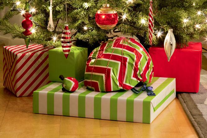 Nutcase Helm unter dem Weihnachtsbaum