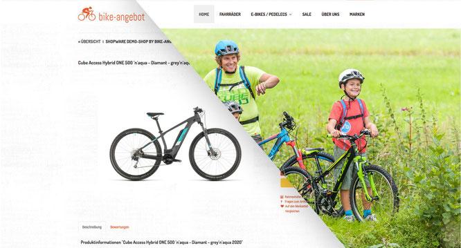 Veloshop - Beispiel bike-angebot.de