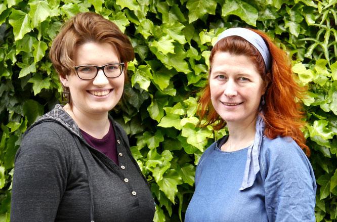 Links Katrin Brünger, rechts Insa Heinzelmann-Krämer