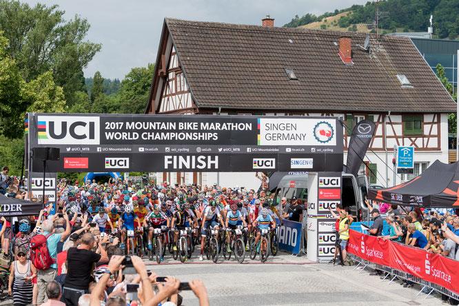 Wenn am Sonntag, 10. Oktober 2021, in Singen die Mountainbiker starten, geht es um Meisterwürden und den Kampf gegen den inneren Schweinehund © Armin M. Küstenbrück