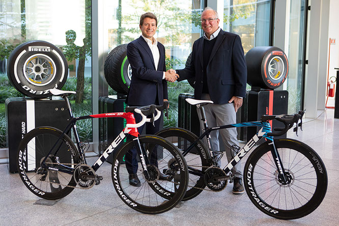 Matteo BARBIERI Head of Pirelli Cycling and Roger GIERHART Vice-President of Trek Bicycle