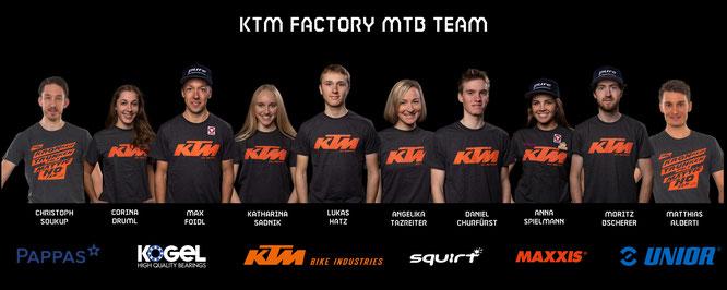 Neue Struktur & Fahrerzugänge für das KTM FACTORY MTB TEAM