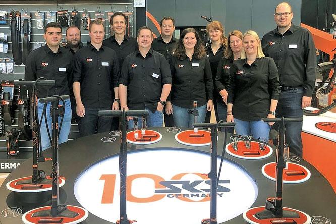Das SKS-Team auf der EUROBIKE in Friedrichshafen. ©SKS