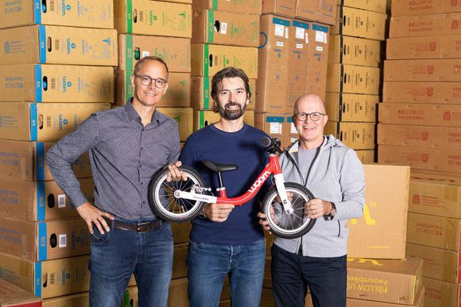 woom Gründer: Christian Bezdeka, Marcus Ihlenfeld, CEO Guido Dohm  @woom