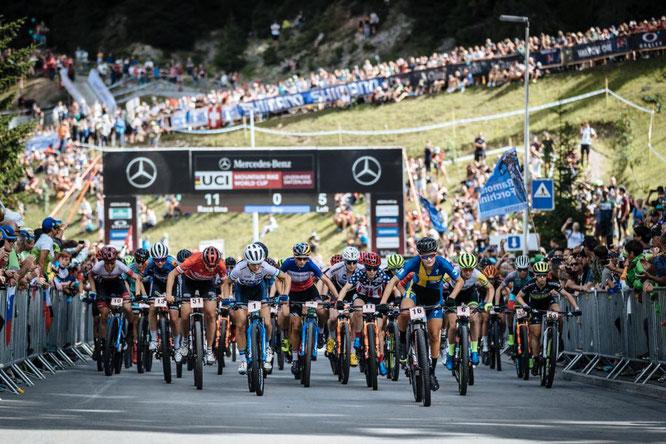 UCI Mountain Bike Worldcup, UCI MTB WC, MTB WC, MTB Weltcup, Bike Weltcup, Mountainbike, 2019 // ©: Piotr Staron ©Inhaber: Ferienregion Lenzerheide