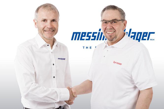 Inhaber Benno Messingschlager und Horst Schuster, Leiter Vertrieb und Marketing Brose Antriebstechnik