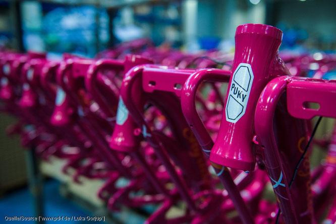 """Der Kinderfahrzeugspezialist Puky darf als einer von wenigen Fahrradherstellern die begehrte Auszeichnung """"Made in Germany"""" nutzen"""