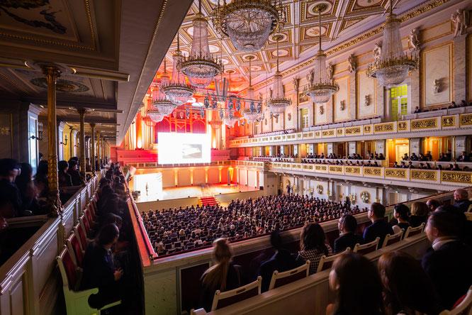 Das Berliner Konzerthaus bot einen feierlichen und ganz besonderen Rahmen für die Preisverleihungs-Gala des Red Dot: Brands & Communication Design 2019.