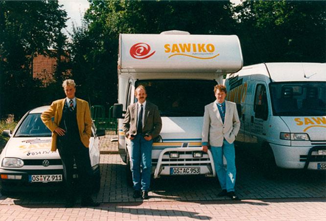 Sawiko Gründer Guido Kovermann, Uwe Samland und Ralf Winter - 1995