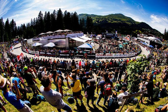 Stimmung am UCI Mountain Bike World Cup Lenzerheide // Copyright: Verein Bike Weltcup Lenzerheide