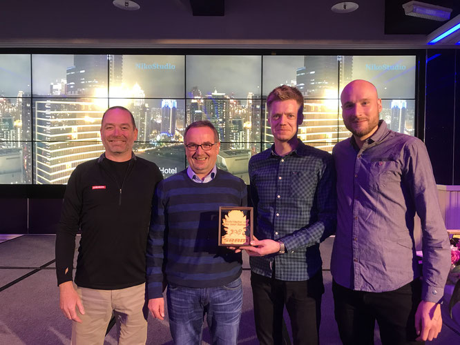 HARTJE SRAM Distributor Award: Jason West, Harry Kirchhoff, Kai Schlemermeyer, Tibor Gijssen