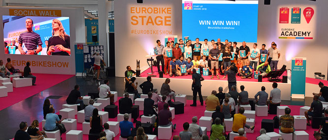 Start-Up Area, Start-Up Day, Start-Up Academy, Start-Up Award: Eurobike stärkt das Networking mit der Gründerszene
