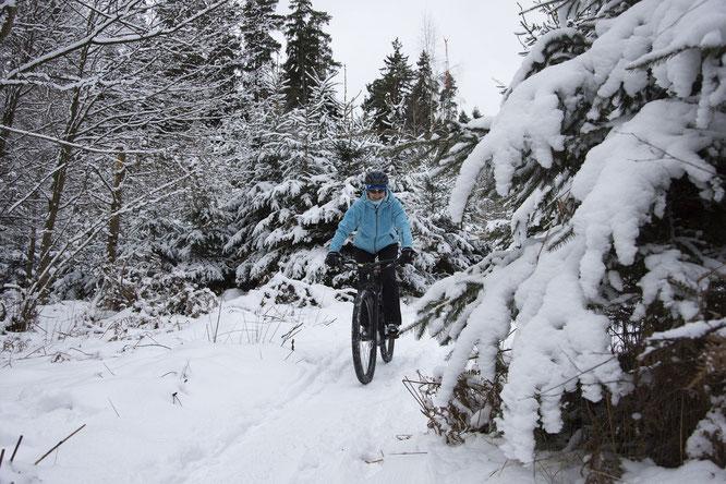 Radfahren im Winter / Bild von brisch27 auf Pixabay