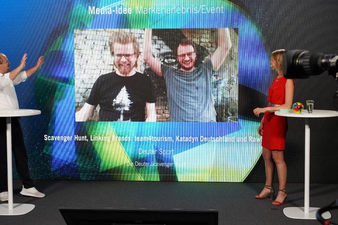 Scavenger Hunt Team gewinnt mit der deuter Scavenger Hunt den Deutschen Mediapreis in der Kategorie Media-/Idee Markenerlebnis/Event