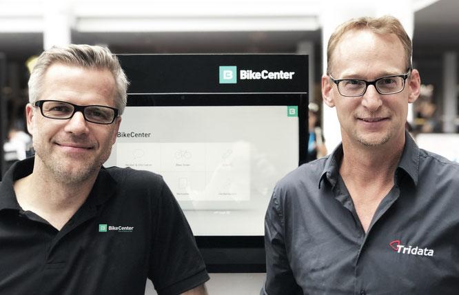 Alex Thusbass (BikeCenter) und Marc Schneider (Tridata)