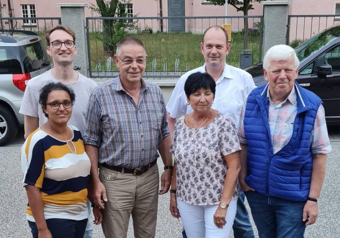 (v. l. n. r.: Melanie Asshoff, Max Liedtke, Jörg Asshoff, Monika Müller, Frank Hänsch und Manfred Dreiucker)