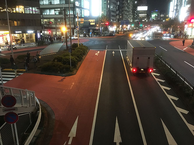 渋谷に着き、街道を振り返る。といってもほんの数キロでしょうか。。。本日はここまで!