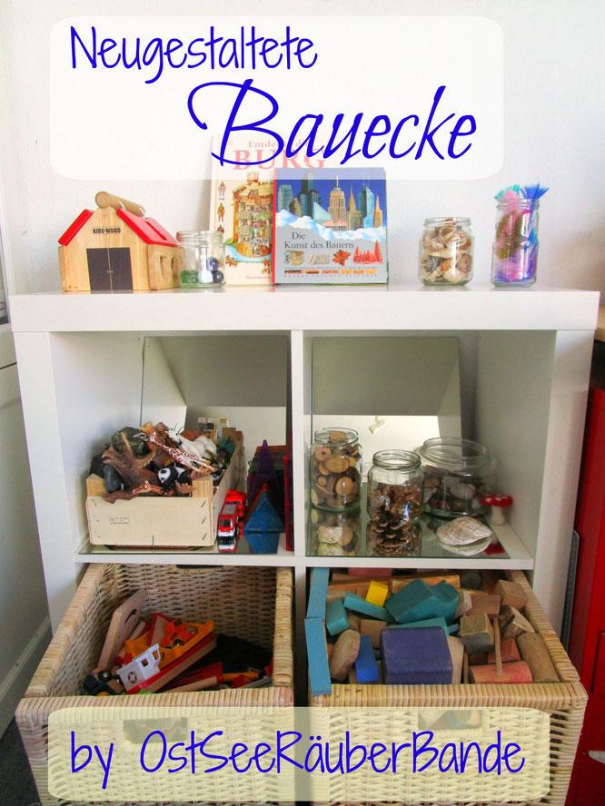 Unsere neugestaltete bauecke ostseeraeuberbande familienblog for Wohnzimmerecke gestalten