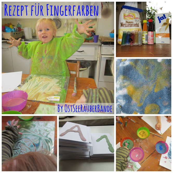 Selbstgemachte Fingerfarben Rezept
