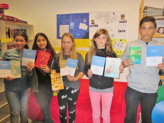Siegerinnen und Sieger des Vorlesewettbewerbs 2014