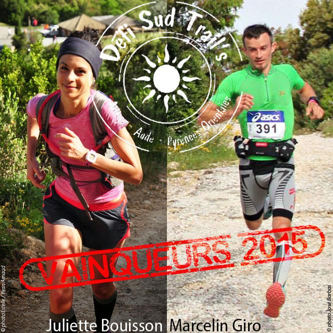 Juliette Bouisson et Marcelin Giro vainqueurs du Défi Sud Trail's 2015