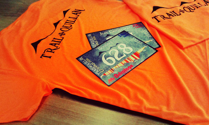 Trail Quillan 2016 - dossard personnalisé - tshirt
