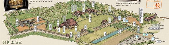 旧閑谷学校 鳥瞰図(パンフレットより抜粋)