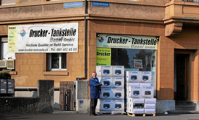 Drucker-Tankstelle Basel GmbH, Ecke Güterstr. 320 und Reinacherstr. 48