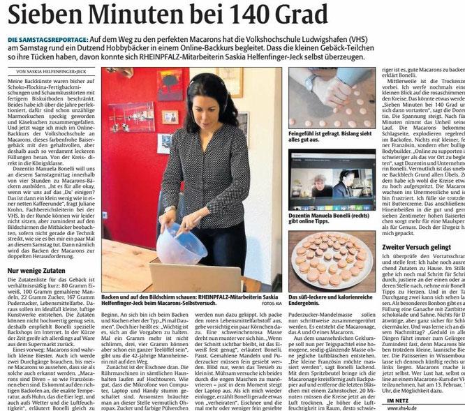 DIE RHEINPFALZ, Ludwigshafener Rundschau, 23.01.2021
