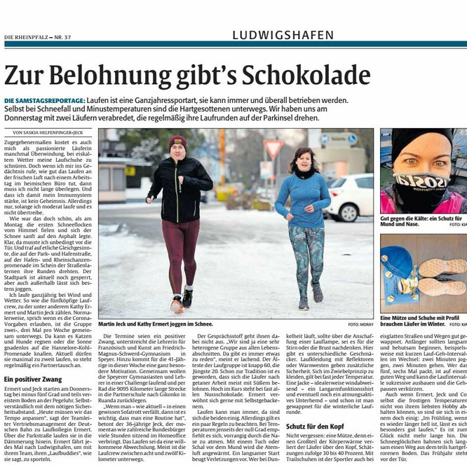 DIE RHEINPFALZ, Ludwigshafener Rundschau, 14.02.2021