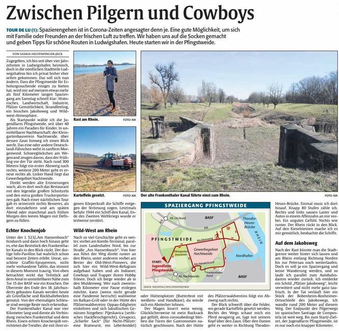 DIE RHEINPFALZ, Ludwigshafener Rundschau, 20.03.2021