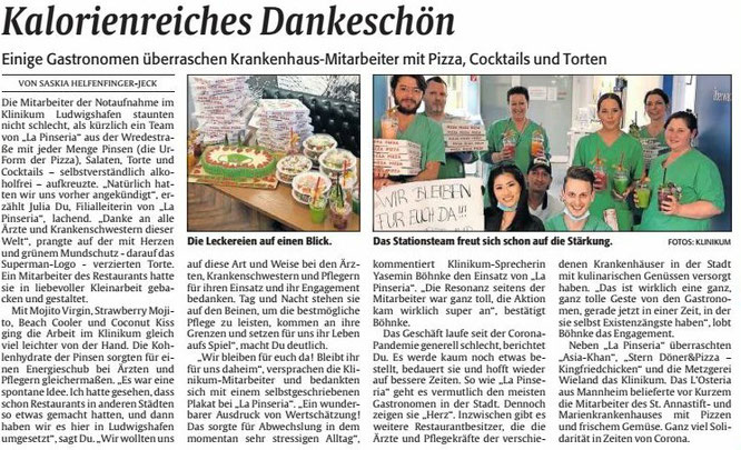 Die RHEINPFALZ, Ludwigshafener Rundschau, 27.03.2020