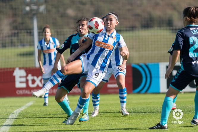 La mexicana Kiana Palacios anota su primer gol con la zamarra txuriurdin - Foto: LaLiga