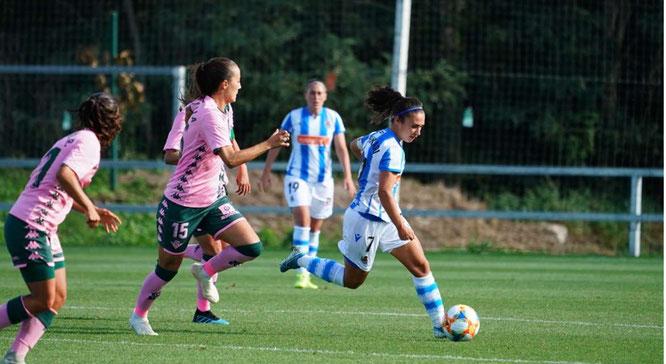 Nahikari, autora de los dos goles, en una jugada del encuentro - Foto: Real Sociedad