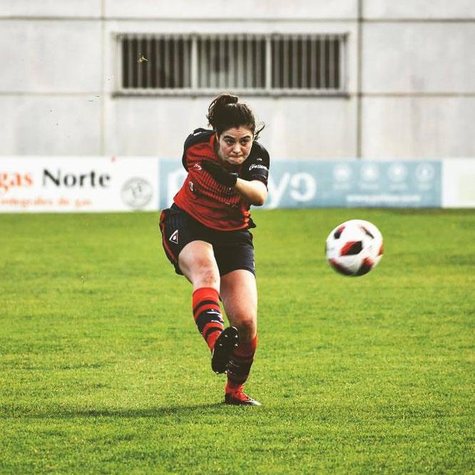 Nagore Rueda volvió tras superar una larga lesión y además marcó un gol - Foto: Aurrera Vitoria