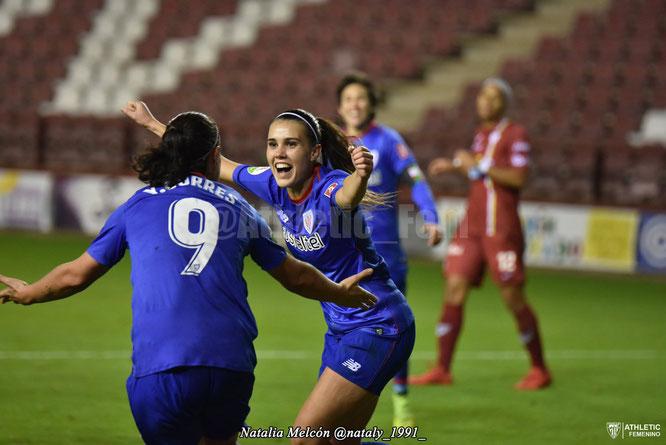 Jone Ibañez logró su primer gol con el primer equipo - Foto: Natalia Melcón