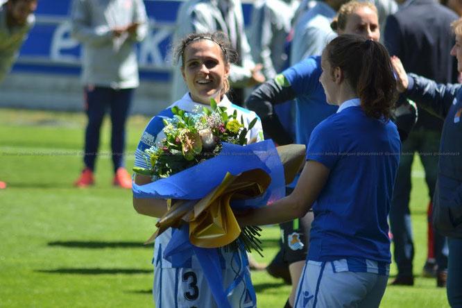Sandra Ramajo recibió un caluroso homenaje en su despedida de Zubieta - Foto: Giovanni Batista