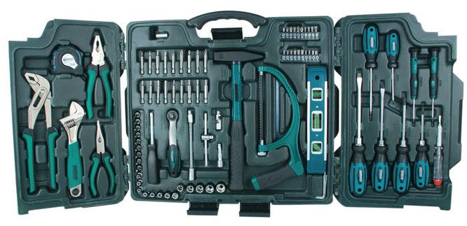 Einsteiger Haushaltskoffer Premium Universal Werkzeugkoffer