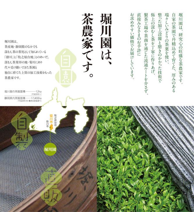 深蒸し茶生産加工直販農家「堀川園」の紹介