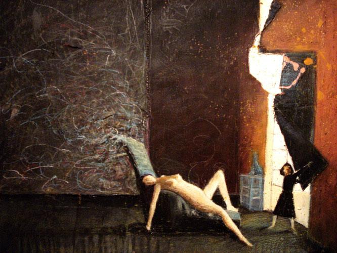 Balthus, acrylique sur toile, canvas, peinture, romain chauvet
