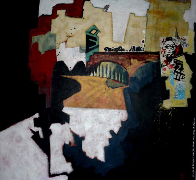 Stalingrad-Jaures, huile sur toile, oil painting, romain chauvet
