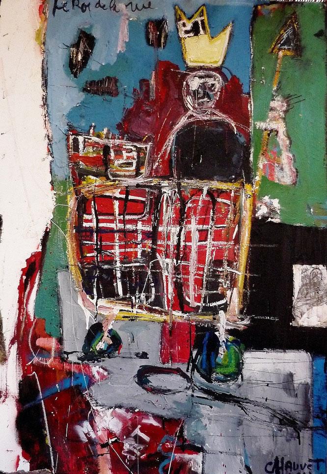 Le roi de la rue, acrylique sur toile, painter, romain chauvet