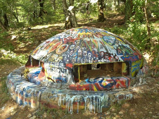 Bunker Fest Tirana, Albanie,  romain chauvet, painting, graff