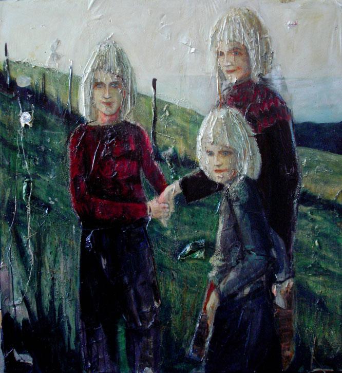 Les enfants d'Islande, Acrylique sur toile, painting,  romain chauvet