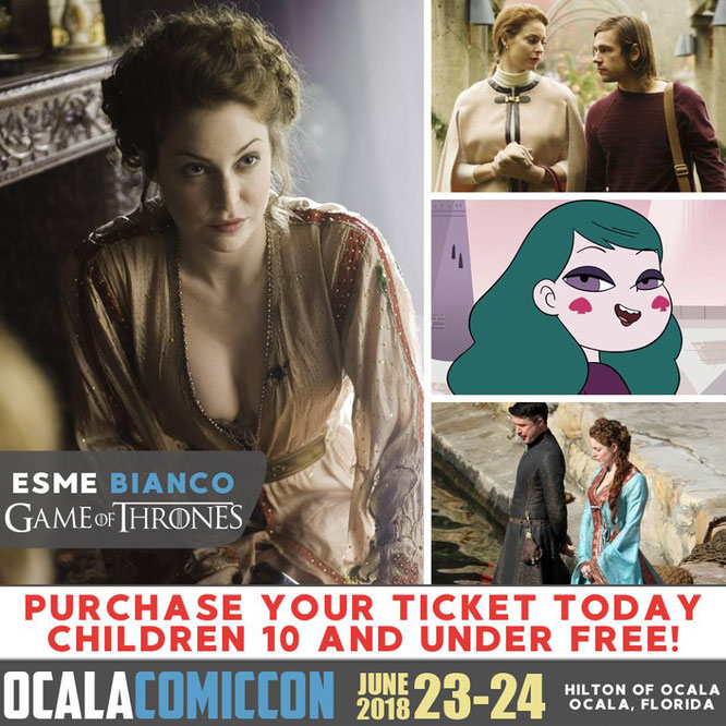 Jun 23-24, 2018 - Ocala, FL. - Ocala Comic Con - With Esme Bianco.