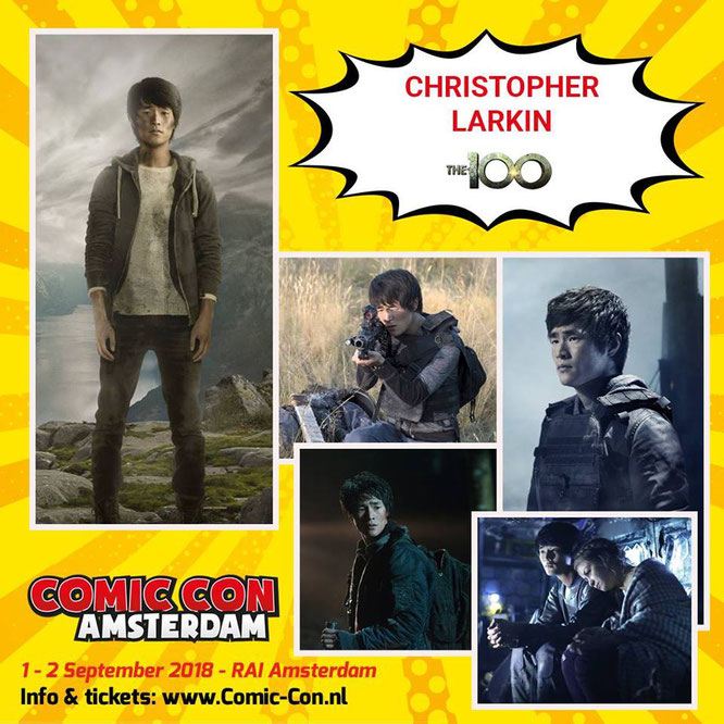 Sep 1-2, 2018 - Amsterdam, Holland - Comic Con Amsterdam - With Chris Larkin.