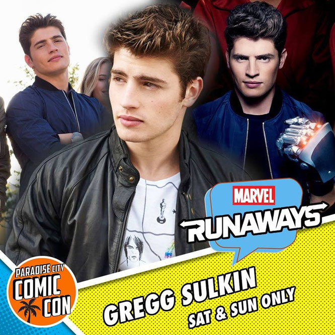 Jan 12-14, 2018 - Miami, FL. - Paradise City Comic Con - With Gregg Sulkin.