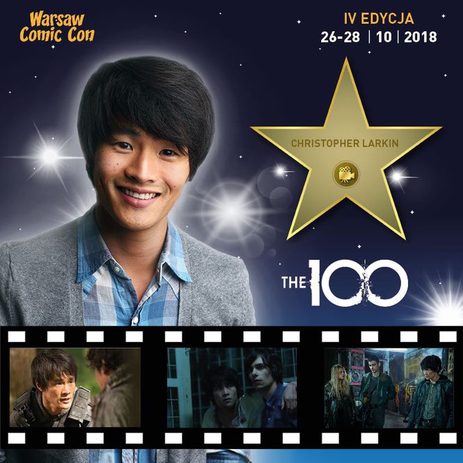 Oct 26-28, 2018 - Warsaw, Poland - Warsaw Comic Con - With Christopher Larkin and Ricky Whittle (Sunday only).